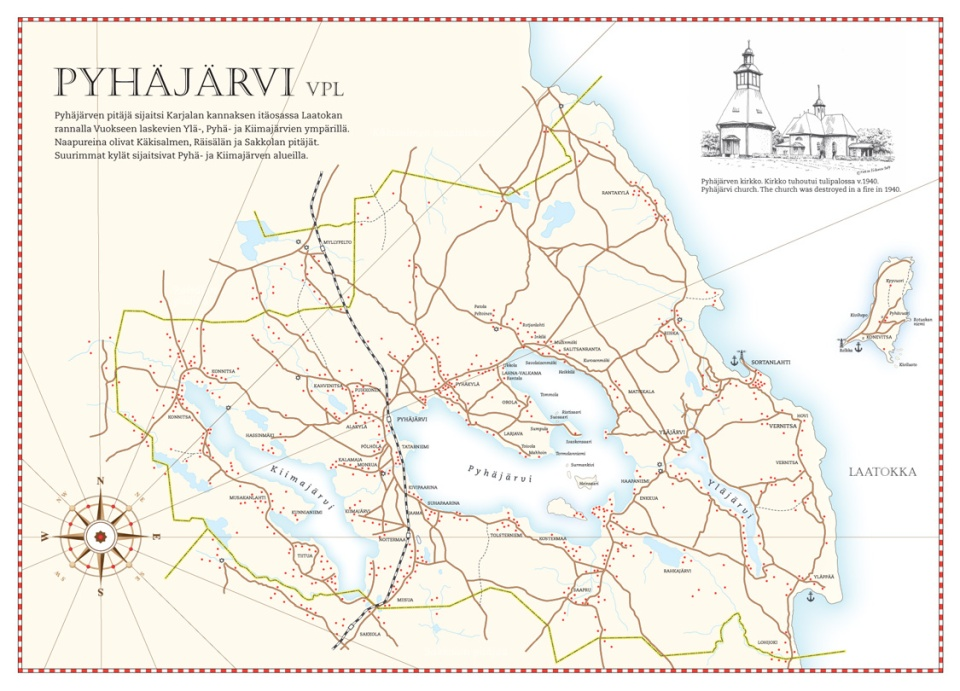 Historical Karjala Map Illustration